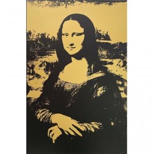 "Serigrafia AfterWarhol MonaLisa timbro ""Fill in your own signature"""