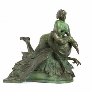 Scultura bronzo Rutelli Fontana Naiadi