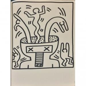 Litografia Keith Haring Napoli Lucio Amelio no Romero Britto