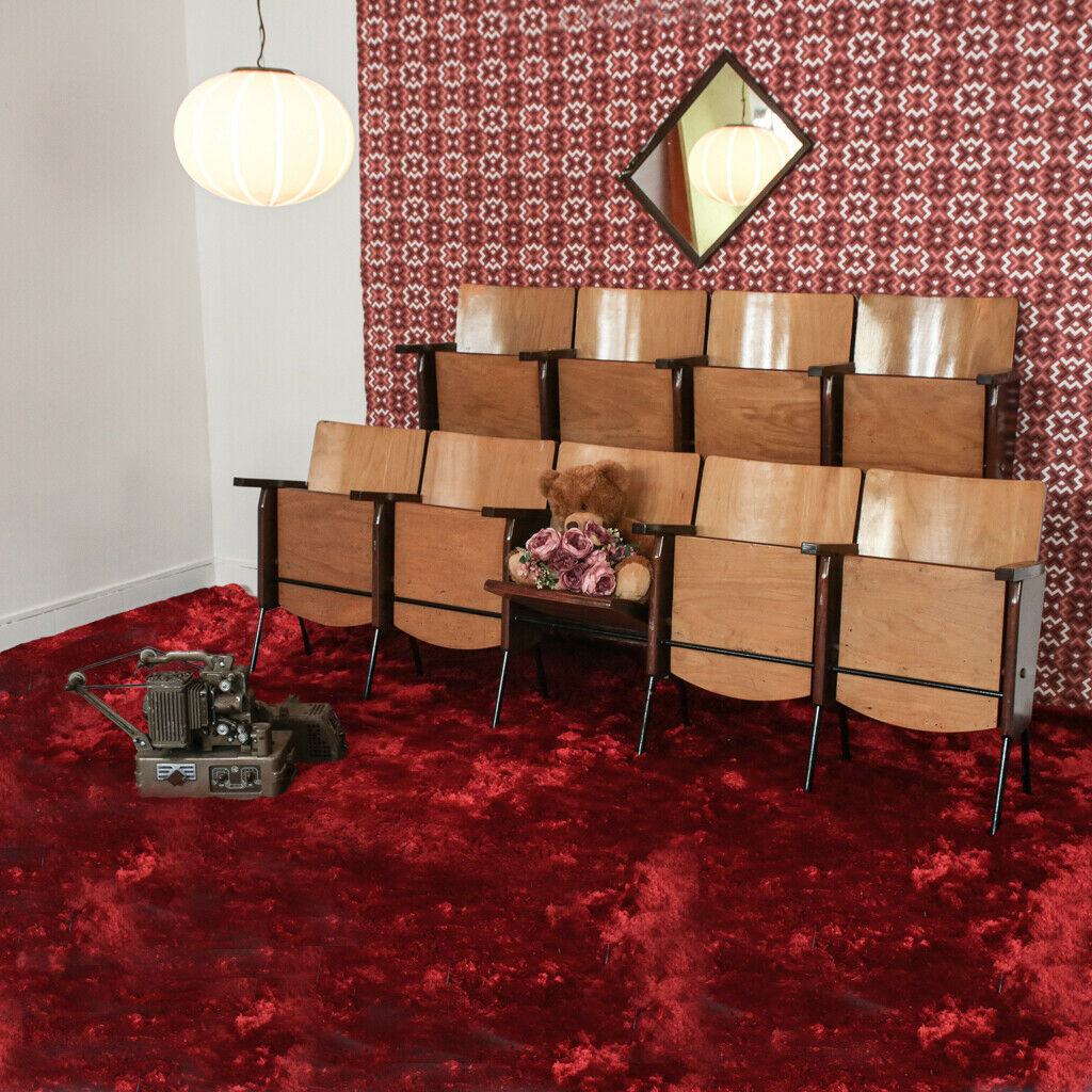 Sedie da cinema da 5 sedute design anni '60