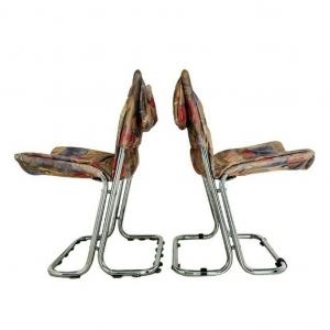 Coppia di sedie Saporiti design anni '70 vintage