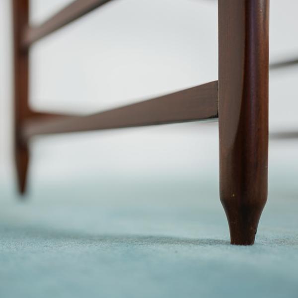Set 6 Sedie Scandinave legno tessuto design anni 60 ...