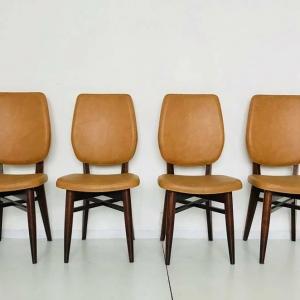 Quattro sedie scandinave vintage anni '60