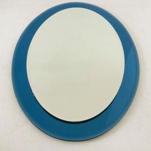 Specchio ovale vintage design anni '70 vintage