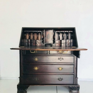 Cassettiera in legno vintage design Italia anni '30