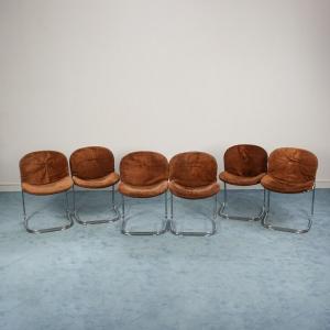 Set di 6 Sedie Gastone Rinaldi design anni 70 vintage