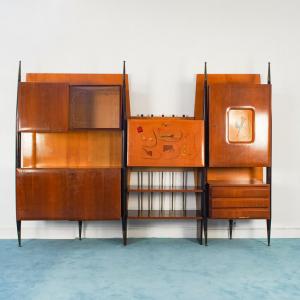 Libreria scandinava in legno vintage design anni '50
