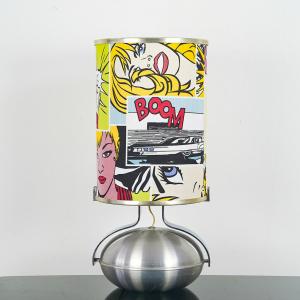 LAMPADA DA TAVOLO CUSTOM POP-ART