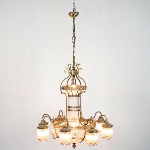 Lampadario ottone 10 luci chandelier