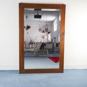 Specchio legno marrone rettangolare
