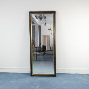 Specchio bambù marrone legno ottone