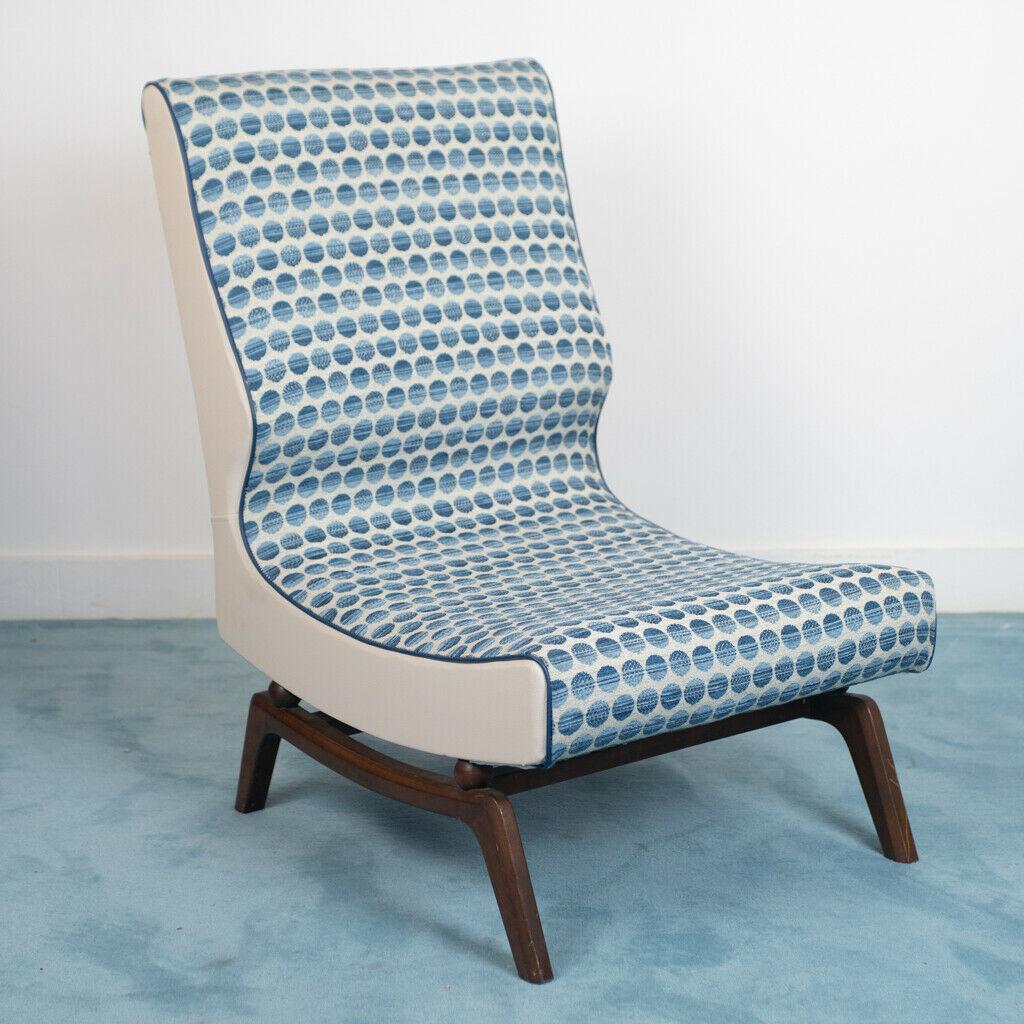 Poltrona Design Anni 70.Poltrona Sedia Tessuto Legno Design Anni 70 Vintage Modernariato Old Era
