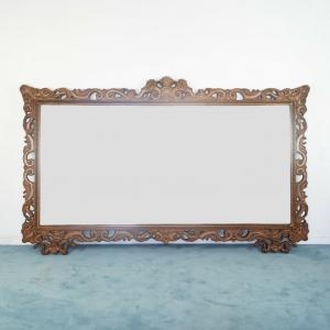 Specchio legno marrone