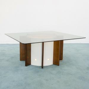 Tavolo da praTavolino coffe table illuminato legno