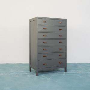 Mobiletto da ottico cassettiera legno metallo osso