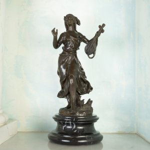 Statua bronzo Fioraia stile vintage originale