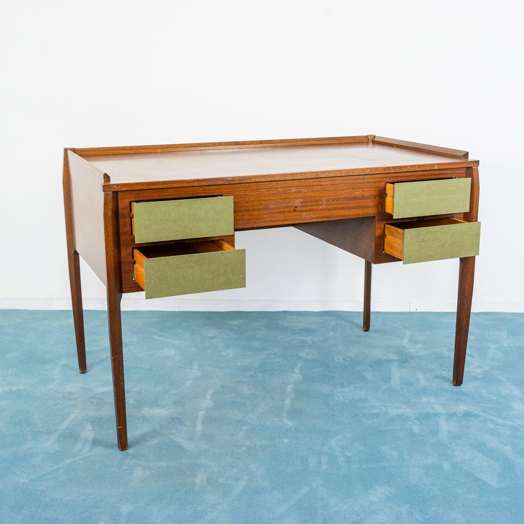 Scrivania Design Anni 50.Scrivania Desk Vittorio Dassi Formica Ottone Design Anni 50 Vintage Modernariato Old Era