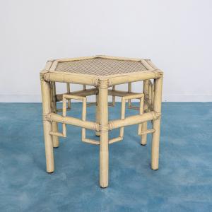 TAVOLINO COFFEE TABLE BAMBÙ PAGLIA DI VIENNA