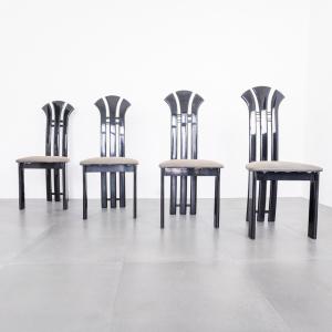 Set quattro sedie stile Pierre Cardin design anni '80