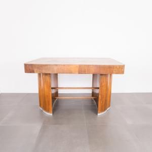 Tavolo Art Déco anni '40 vintage in quercia