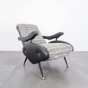 Poltrona reclinabile OscarEllo Pini design anni '70