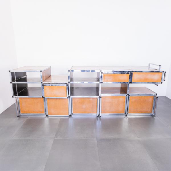 Sideboard modulare multi funzione laminato design anni '70