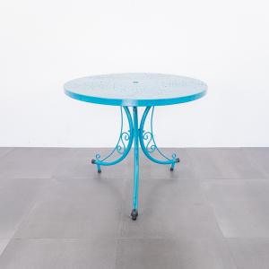 Tavolo da giardino ferro battuto tiffany design anni '50