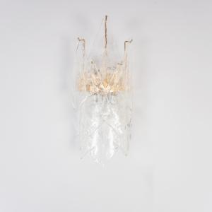 Applique vetro di Murano metallo dorato design anni '50 Vintage