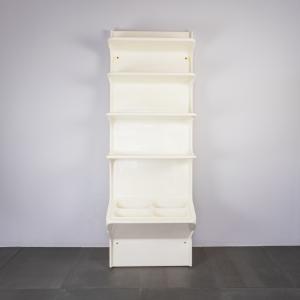 Libreria credenza a ripiani in plastica design anni '70