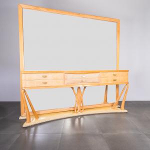 Mobile sideboard specchiera stile Vittorio Dassi design anni '70
