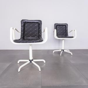 Coppia di sedie girevoli Gigli & Meglio anni '70 Vintage Modernariato