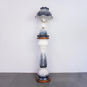 Lampada da tavolo colonna ceramica fantasia anni 30 Vintage Modernariato