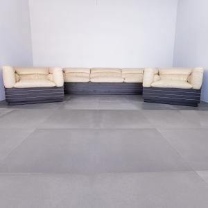 Set divano 2 poltrone Saporiti Offredi design anni '80 Vintage Modernariato