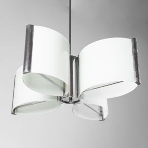 Lampadario 12 luci vetro anni '70 Vintage Modernariato