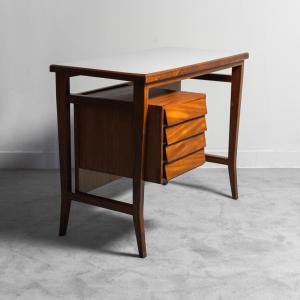Scrivania in legno Gio Ponti per Schirolli anni '60 vintage modernariato
