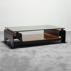 Tavolino da caffè allungabile in teak anni '70 Vintage Modernariato