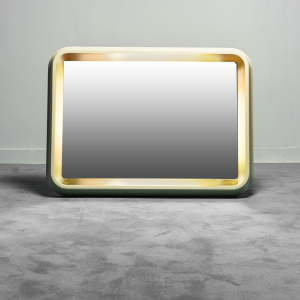 Specchio rettangolare retroilluminato anni '50 vintage