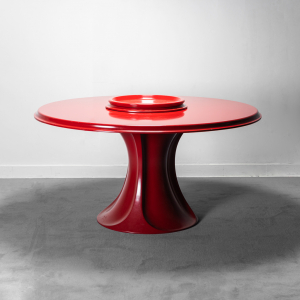 Tavolo rosso Boccio 1p Spadolini anni '60 Vintage Modernariato