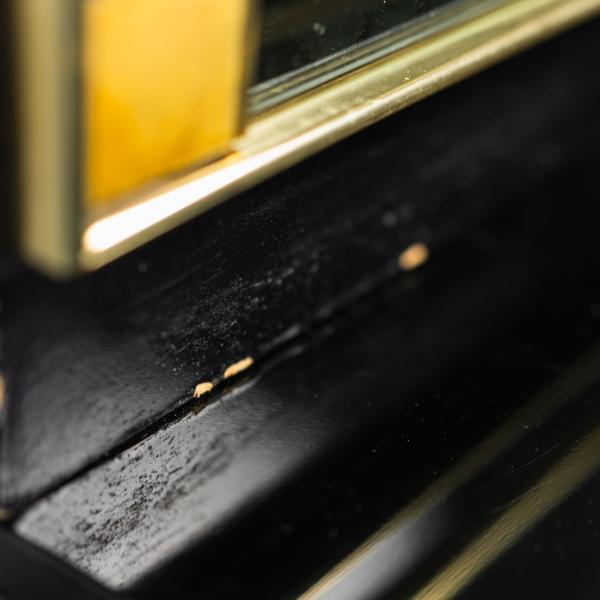 aVetrina in ottone Pierre Cardin anni '80 Vintage Modernariato