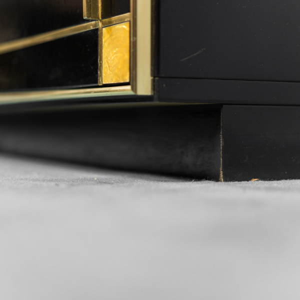 Vetrina in ottone Pierre Cardin anni '80 Vintage Modernariato