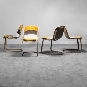 Set 4 sedie Gastone Rinaldi CIDUE anni '70 Vintage modernariato