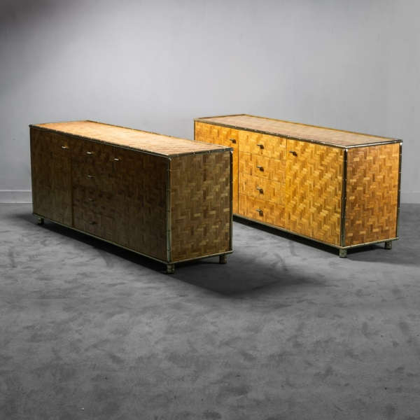 Credenza sideboard in legno Gabriella Crespi anni '70 Vintage