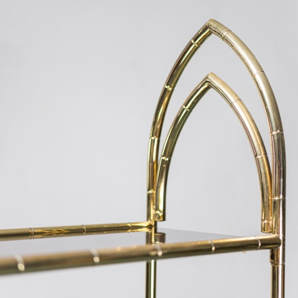 Vetrina metallo dorato vetro fumè anni '70 Vintage Modernariato