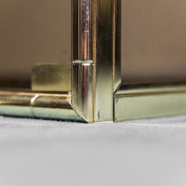 Vetrina metallo dorato vetro fumè anni '70 Modernariato Vintage