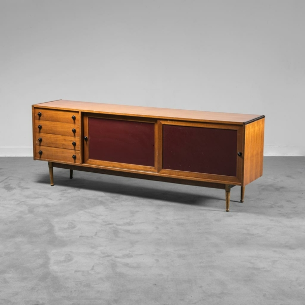 Sideboard in legno sky bordeaux anni '70 Vintage Modernariato