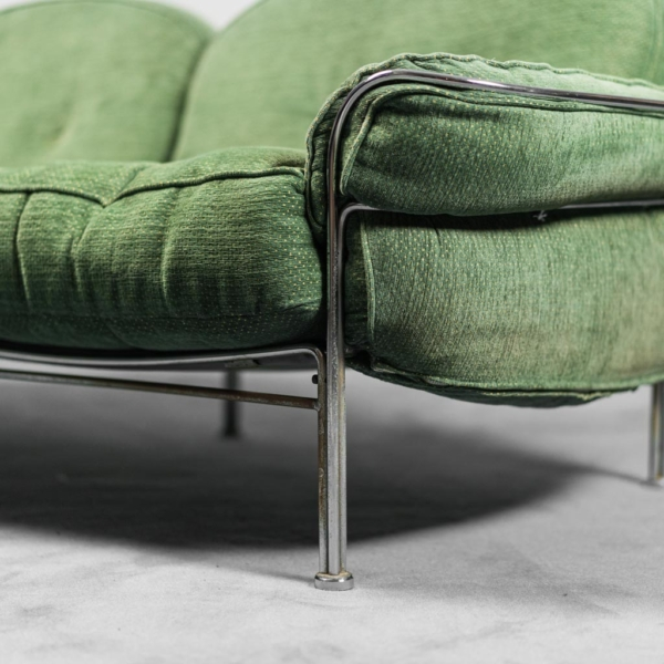 Divano 2 posti in tessuto metallo anni '70 Modernariato Vintage