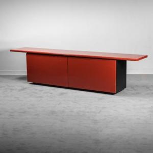 Sideboard rosso Sheraton Acerbis anni '70 vintage modernariato
