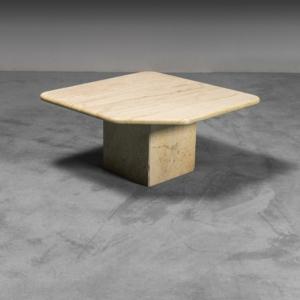 Tavolino da caffè in marmo anni '70 Vintage Modernariato
